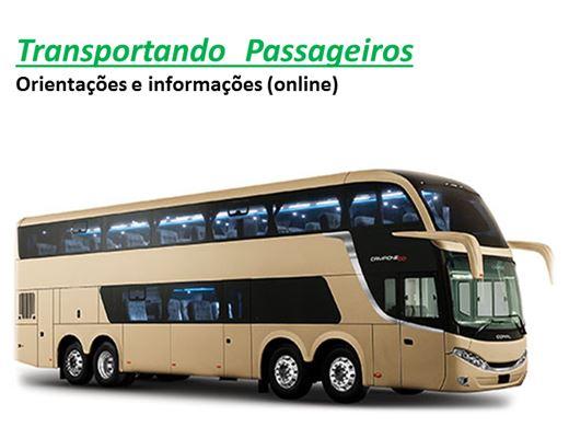 Curso Online de Transportando  Passageiros Orientações e informações (online)