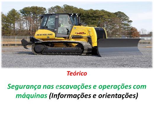 Curso Online de Segurança nas escavações e operações com máquinas (Informações e orientações)