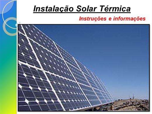 Curso Online de Instalação Solar Térmica