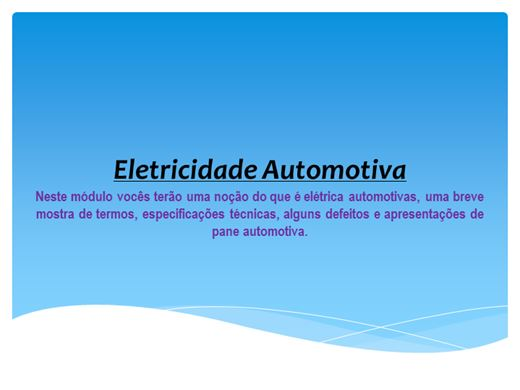 Curso Online de Eletricidade Automotiva