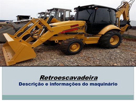 Curso Online de Retroescavadeira Descrição e informações do maquinário
