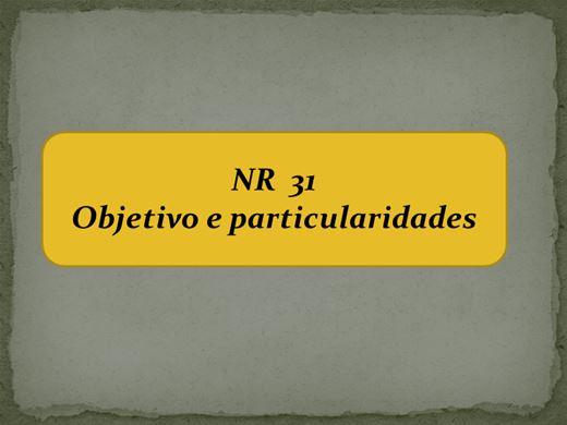 Curso Online de NR  31 Objetivo e particularidades