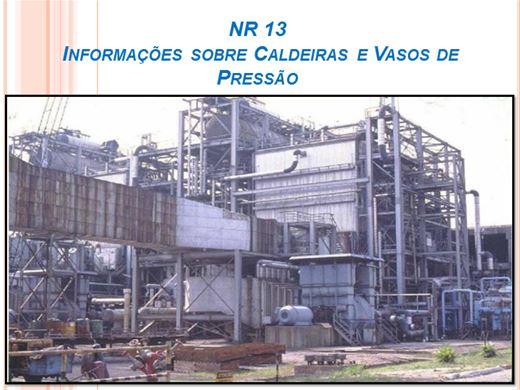 Curso Online de NR 13  Informações sobre Caldeiras e Vasos de Pressão