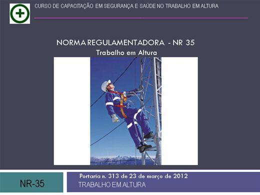 Curso Online de Treinamento de Trabalho em Altura ( NR - 35 )