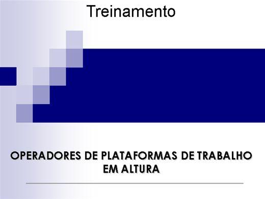 Curso Online de Plataforma Aérea (PTA)