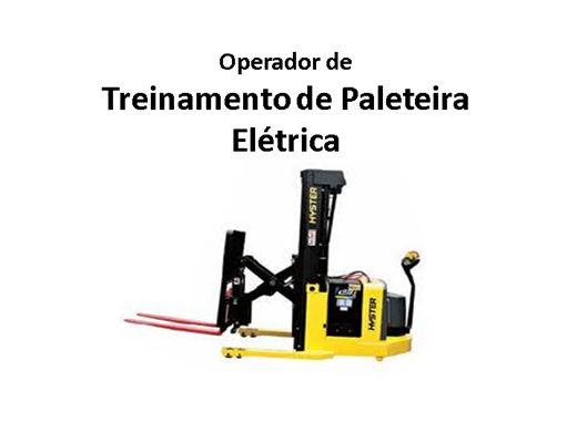 Curso Online de Treinamento Operador de Paleteiro Elétrica