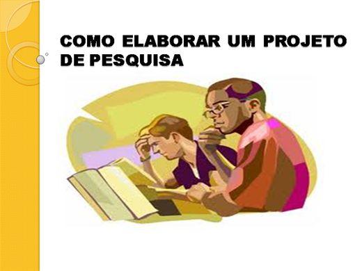 Curso Online de COMO ELABORAR UM PROJETO DE PESQUISA