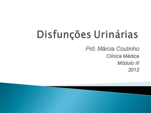 Curso Online de Disfunções Urinárias