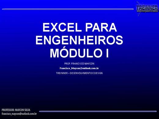Curso Online de EXCEL PARA ENGENHEIROS - MÓDULO 1