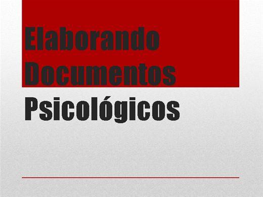 Curso Online de Elaborando Documentos Psicológicos