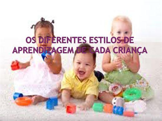 Curso Online de OS DIFERENTES ESTILOS DE APRENDIZAGEM DE CADA CRIANÇA.