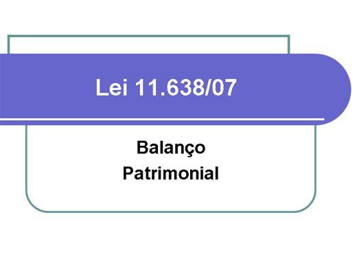 Curso Online de Balanço Patrimonial