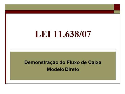 Curso Online de Demonstração do Fluxo de Caixa - Modelo Direto