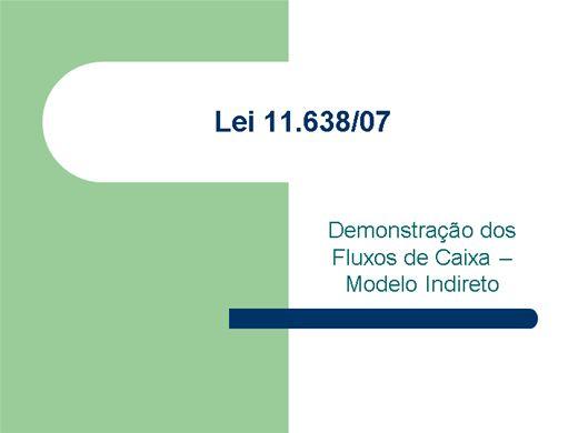 Curso Online de Demonstração do Fluxo de Caixa - Modelo Indireto