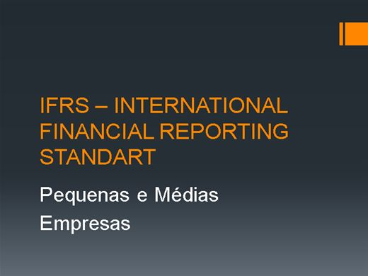 Curso Online de International Financial Reporting Standart - PME