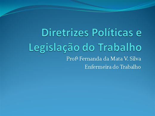 Curso Online de Diretrizes Políticas e Legislação do Trabalho