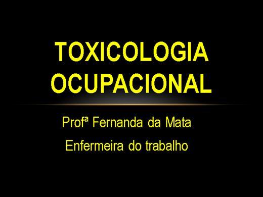 Curso Online de Toxicologia Ocupacional