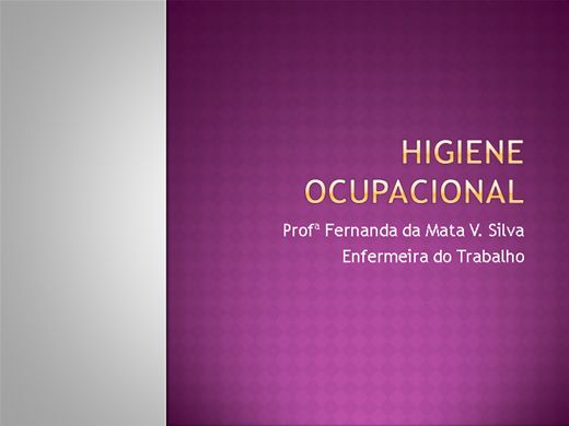 Curso Online de Higiene Ocupacional