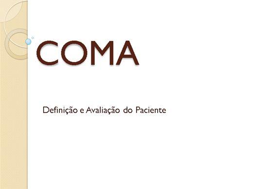 Curso Online de Coma: Definição, Fisiopatologia e Avaliação do Paciente