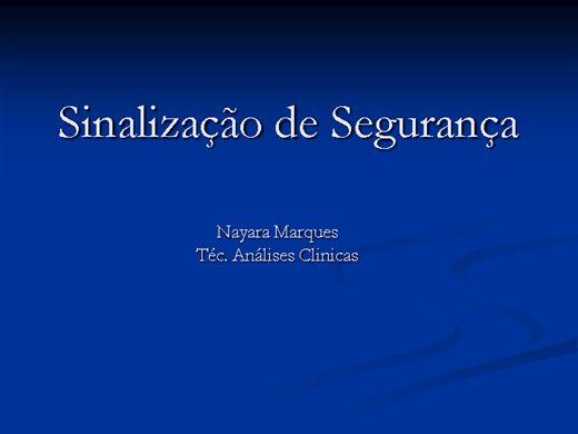 Curso Online de Sinalizações Dentro de Laboratórios Clínicos