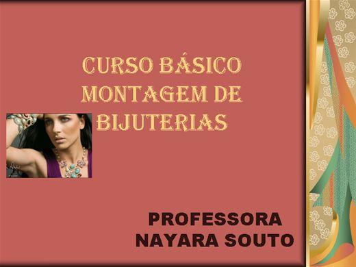 Curso Online de basico de montagem de bijuterias