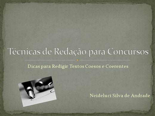 Curso Online de Técnicas de Redação para Concursos