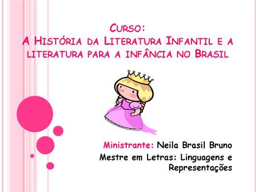 Curso Online de História da Literatura Infantil e a Literatura para a infância no Brasil