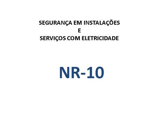 Curso Online de NR-10 - SEGURANÇA EM INSTALAÇÕES E SERVIÇOS EM ELETRICIDADE