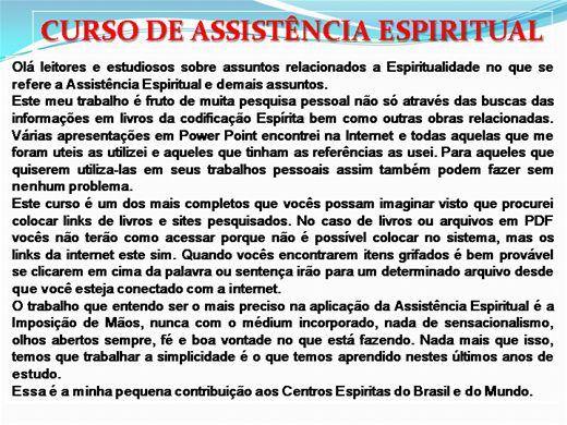 Curso Online de ASSISTÊNCIA ESPIRITUAL - COMPLETO