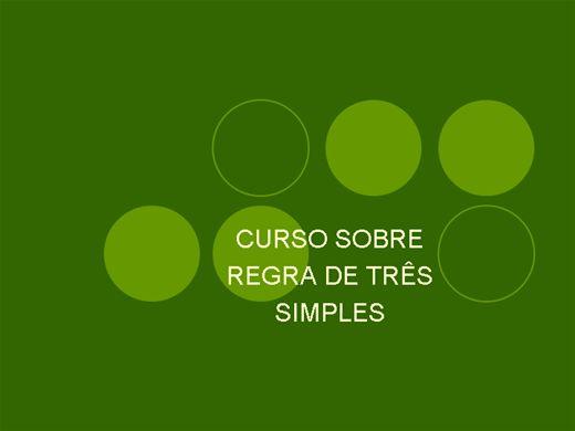 Curso Online de REGRA DE TRÊS SIMPLES