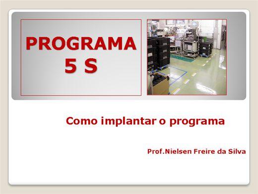 Curso Online de PROGRAMA 5 S