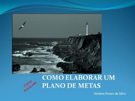 Curso Online de COMO ELABORAR O PLANO DE METAS