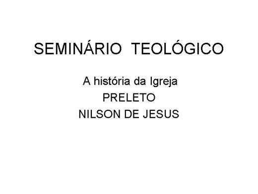 Curso Online de Seminário Teológico basico