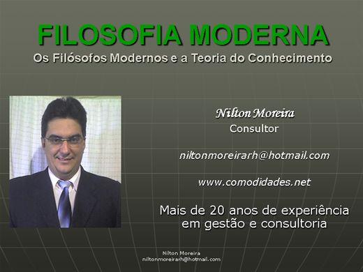 Curso Online de FILOSOFIA MODERNA