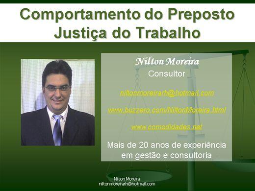 Curso Online de Comportamento do Preposto na Justiça do Trabalho