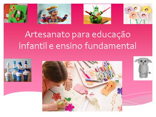 Curso a Dist u00e2ncia de Artesanato para educaç u00e3o infantil e ensino fundamental Buzzero com