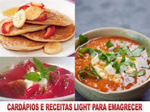 Curso Online de Cardápios, Receitas light e Dietas para emagrecer