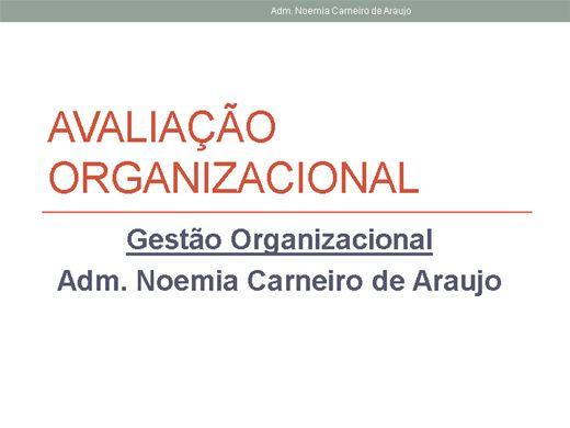 Curso Online de Avaliação Organizacional