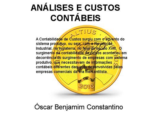 Curso Online de ANÁLISES E CUSTOS CONTÁBEIS