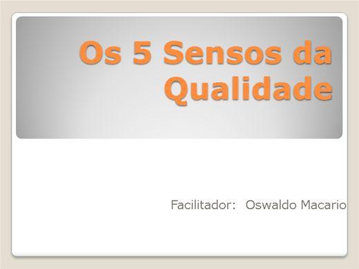 Curso Online de Os 5 Sensos da Qualidade