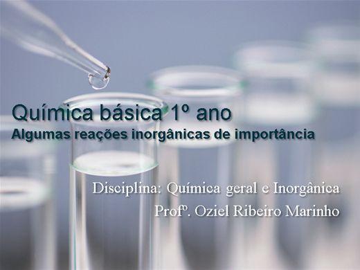 Curso Online de Minicurso: Química básica 1º ano Algumas reações inorgânicas de importância