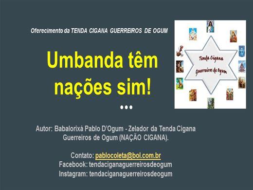 Curso Online de UMBANDA TÊM NAÇÕES SIM!!