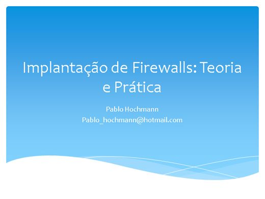 Curso Online de Firewall