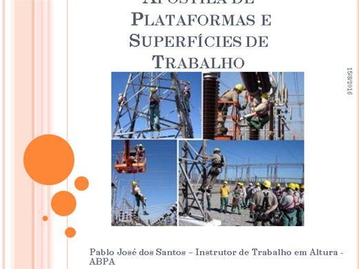 Curso Online de Apostila de  Plataformas e Superfícies de Trabalho Aéreo - para Instrutores de Trabalho em Altura
