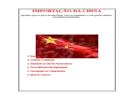 Curso Online de Importando da China