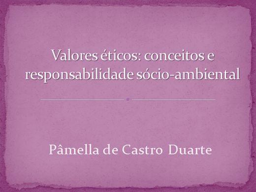 Curso Online de Valores éticos: conceitos e responsabilidade sócio-ambiental