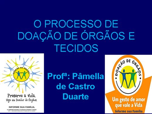 Curso Online de O Processo de Doação de Órgãos e Tecidos