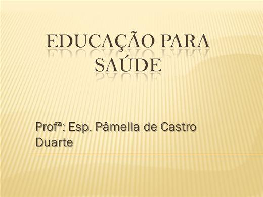 Curso Online de EDUCAÇÃO PARA A SAÚDE