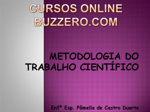 Curso Online de METODOLOGIA DO TRABALHO CIENTÍFICO