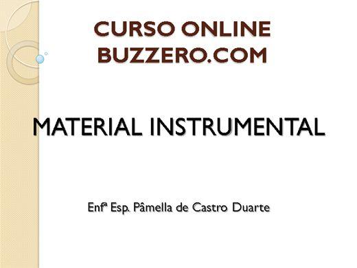Curso Online de MATERIAL INSTRUMENTAL